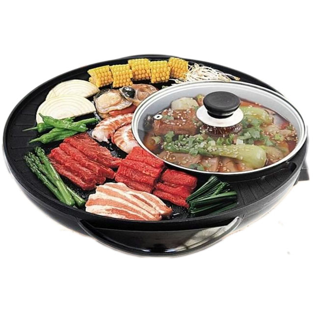 Electric Frying Pan/ Pizza Pan/Hotpot PanGZY-R36