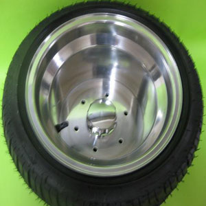 10x8 wheel with 6 bolt holeGZY-PB1080P-6H & tyre 205/30-10 or 225/45-10 or 235/30-10
