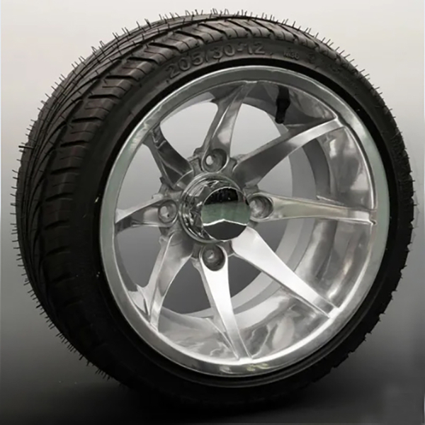 10X8 Inch ATV Wheel UTV Wheel Alloy Wheel Rims GZY-FISH1275N&TYRE 205/30-12(or tyre 235/30-12)