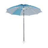 SQ-10210-2  2.1米两节双转超轻蓝色十骨纤维伞 -SQ-10210-2